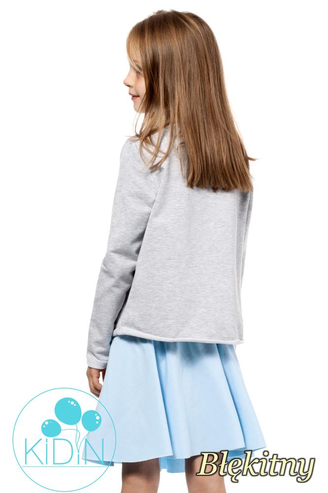 CM2027 Dziewczęca spódniczka z koła - błękitna