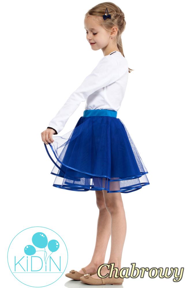 CM2029 Dziecięca tiulowa spódniczka - chabrowa