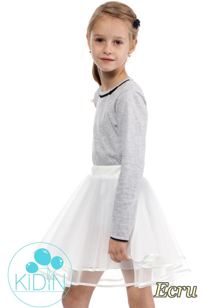 CM2029 Dziecięca tiulowa spódniczka - ecru
