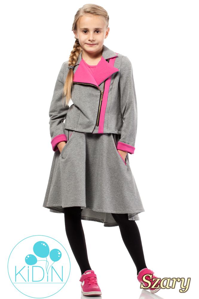 CM2034 Zasuwana dresowa kurtka dziecięca - szary
