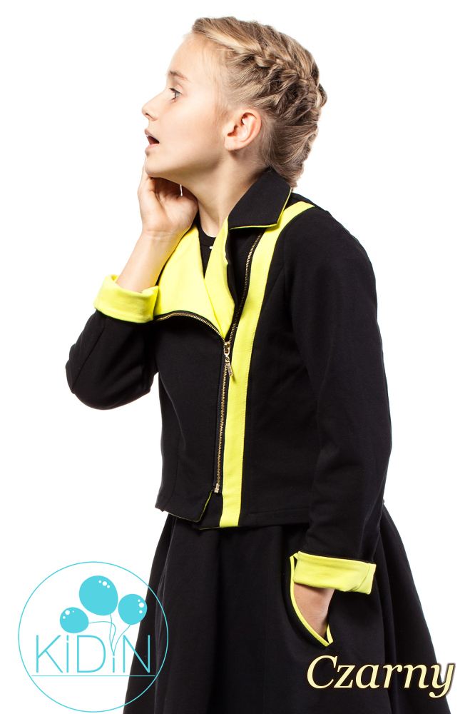 CM2034 Zasuwana dresowa kurtka dziecięca - czarna