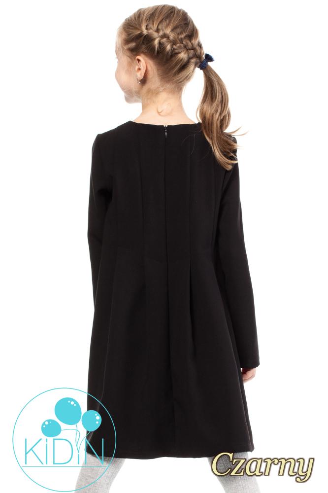 CM2036 Dziewczęca elegancka sukienka - czarna