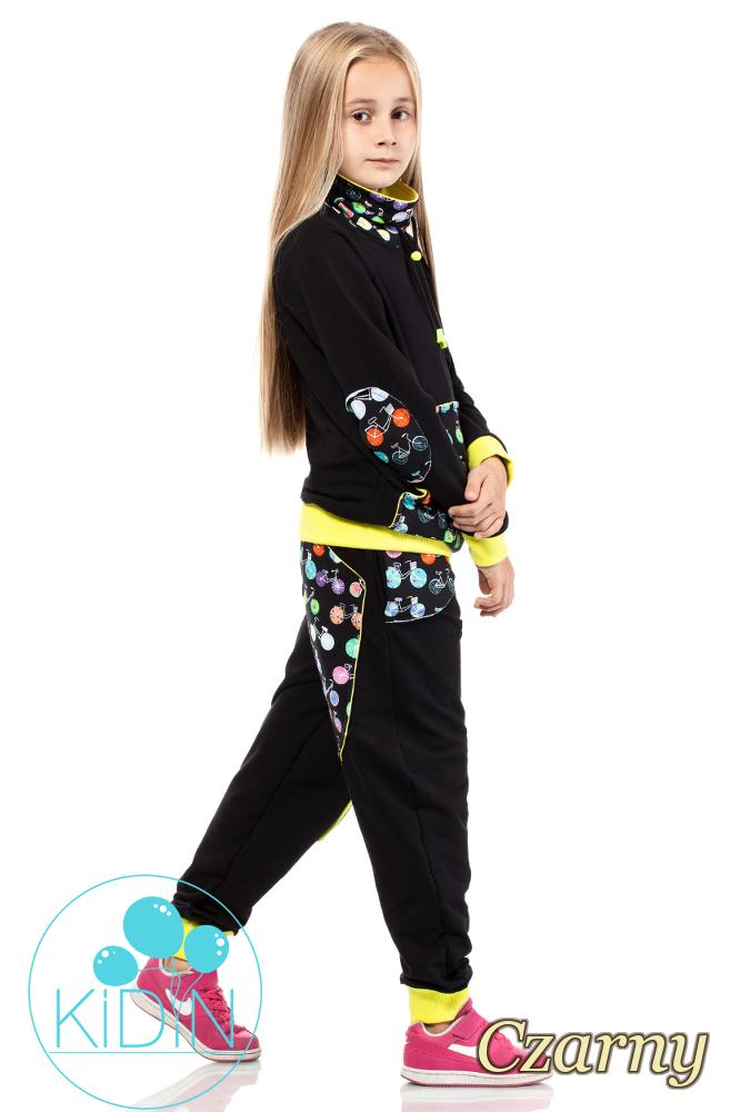 CM2038 Dziecięca bluza z kominem - czarna