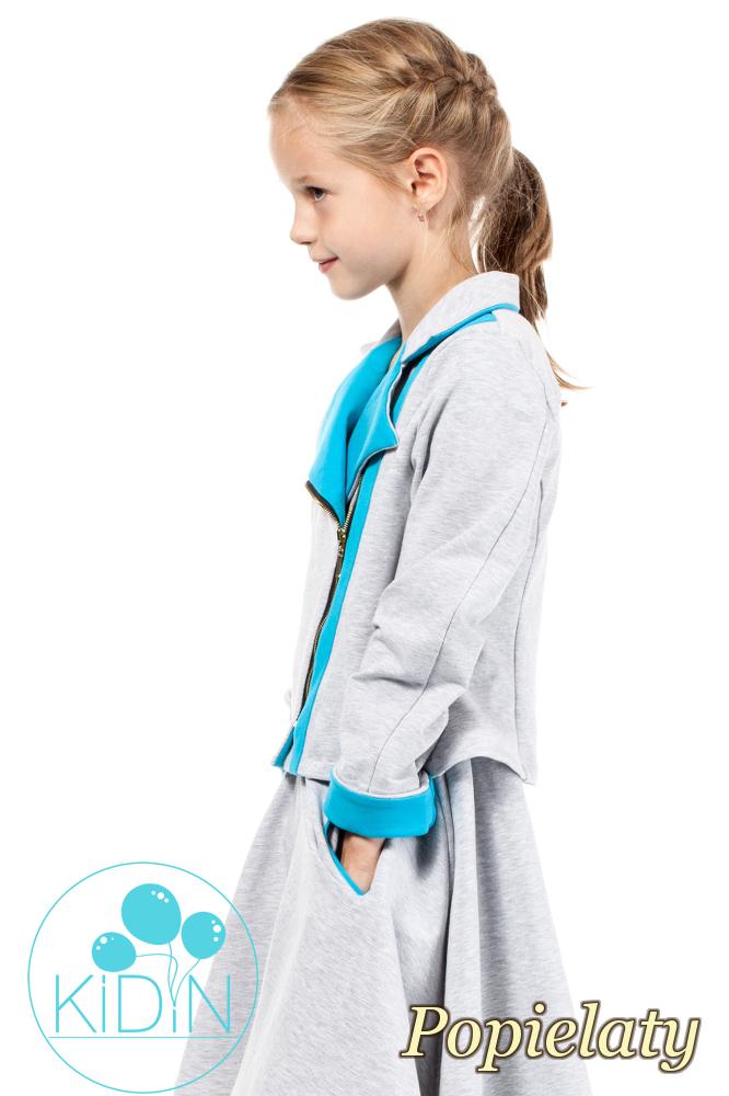 CM2034 Zasuwana dresowa kurtka dziecięca - popielata