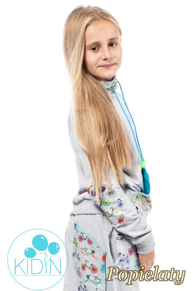 CM2038 Dziecięca bluza z kominem - popielata