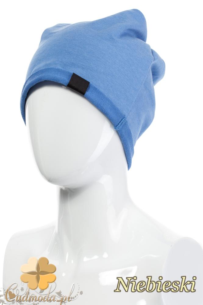 CM2075 Lekka bawełniana czapka zimowa - niebieska