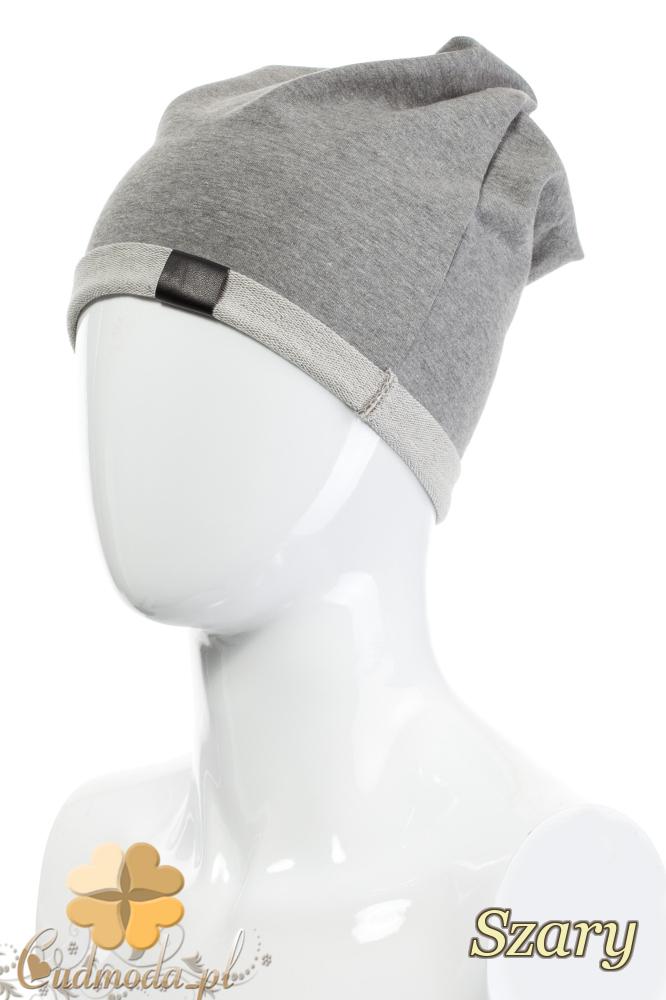 CM2075 Lekka bawełniana czapka zimowa - szara