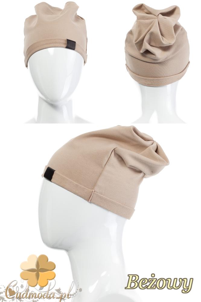 CM2075 Lekka bawełniana czapka zimowa - beżowa