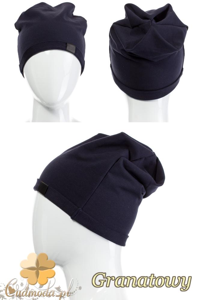 CM2075 Lekka bawełniana czapka zimowa - granatowa