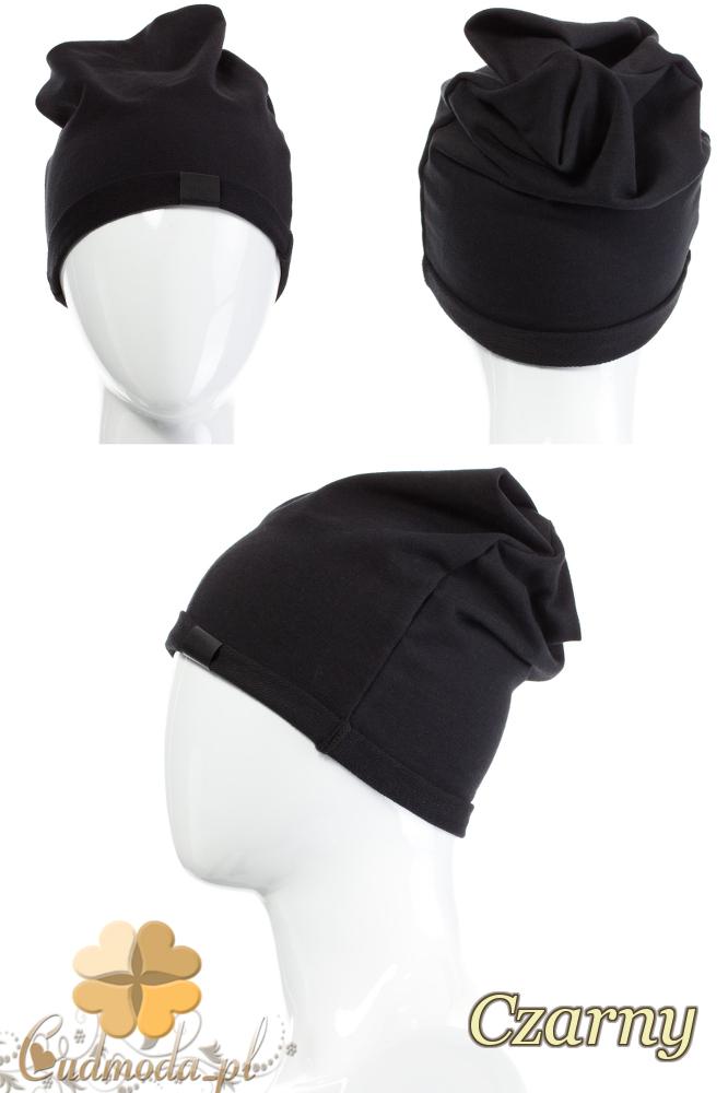 CM2075 Lekka bawełniana czapka zimowa - czarna