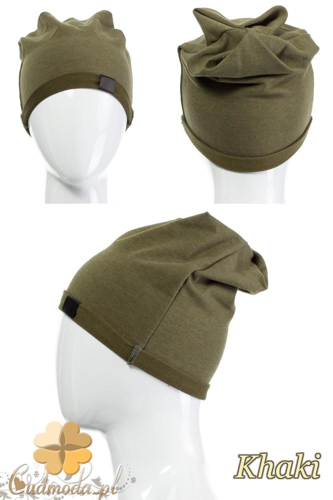 CM2075 Lekka bawełniana czapka zimowa - khaki