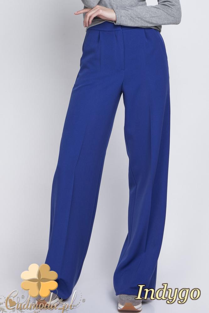 CM2063 Eleganckie biurowe spodnie szwedy - indygo