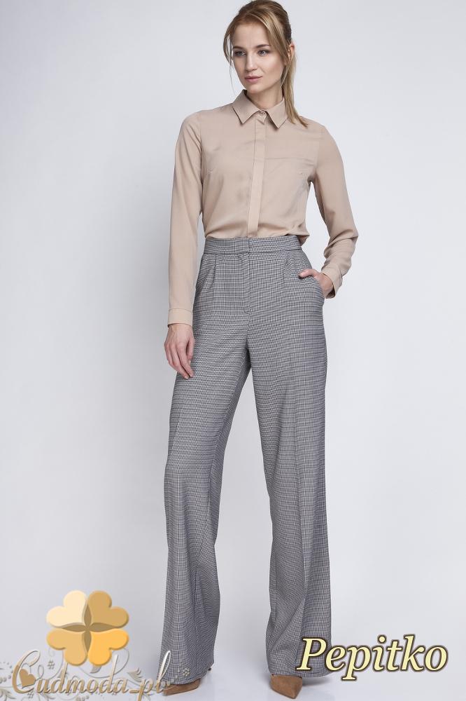 CM2063 Eleganckie biurowe spodnie szwedy - pepitko