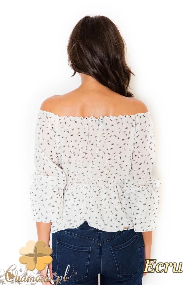 CM2074 Nowoczesna bluzka odsłaniająca ramiona - ecru