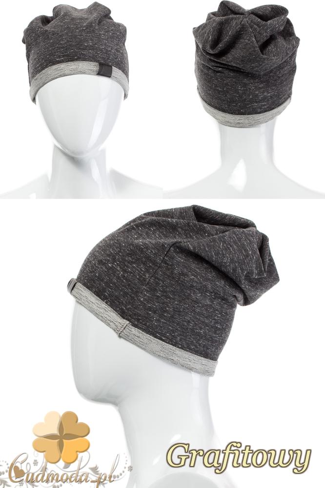 CM2075 Lekka bawełniana czapka zimowa - grafitowa