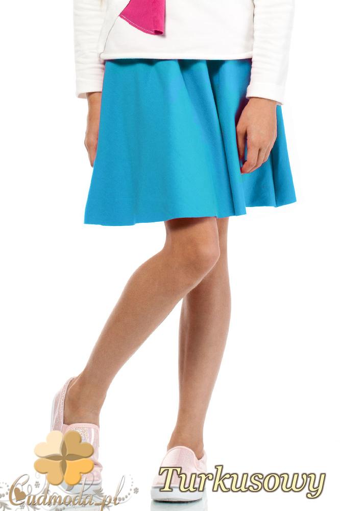 CM2114 Elegancka sukienka dziecięca z koła - turkusowa