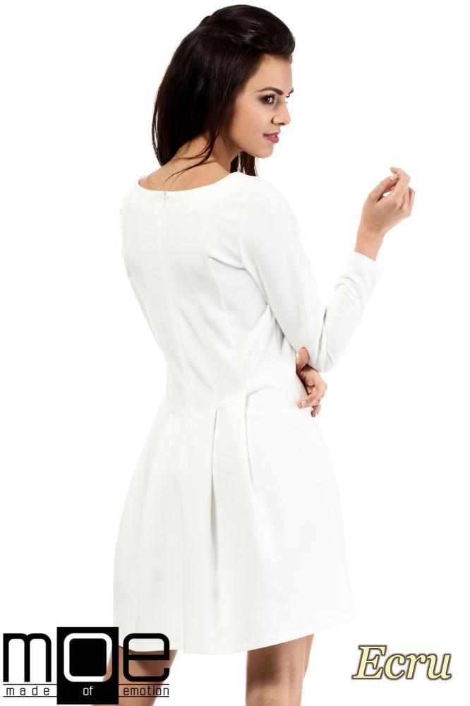 CM2053 Wizytowa sukienka na wesele studniówkę - ecru