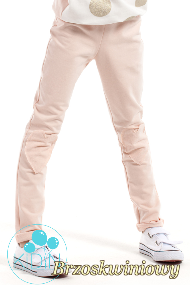 CM2166 Bawełniane dziewczęce rurki - brzoskwiniowe