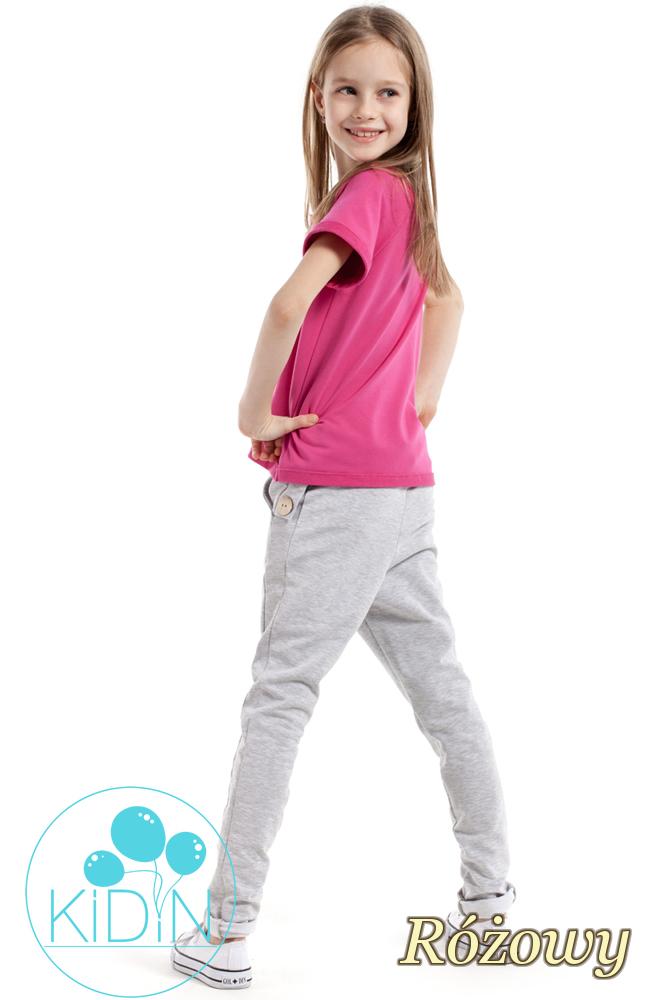CM2170 Bluzka dziecięca z dekoltem karo - różowa
