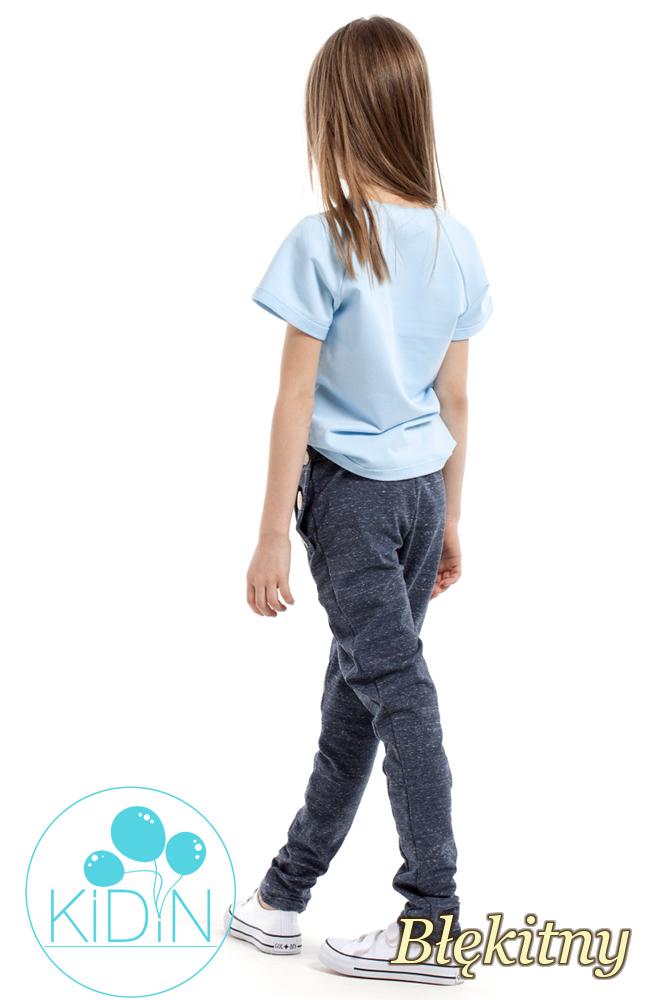 CM2170 Bluzka dziecięca z dekoltem karo - błękitna