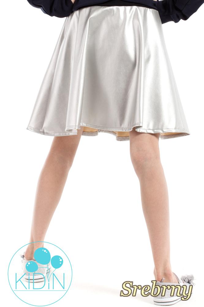CM2172 Elastyczna spódniczka na uroczystość - srebrna