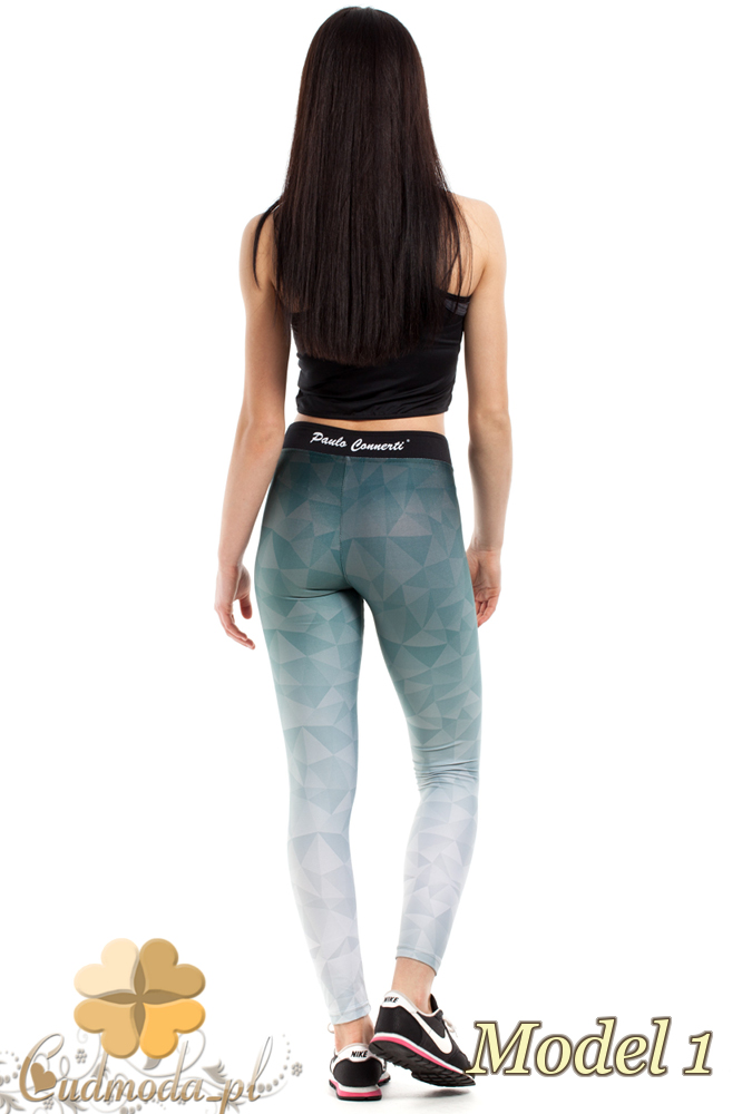 CM2183 Dopasowane legginsy sportowe na fitness - model 1