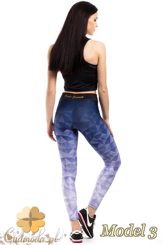 CM2183 Dopasowane legginsy sportowe na fitness - model 3