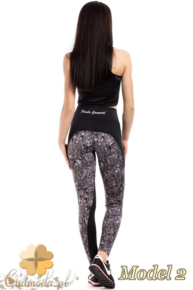 CM2184 Sportowe legginsy na fitness we wzory - model 2