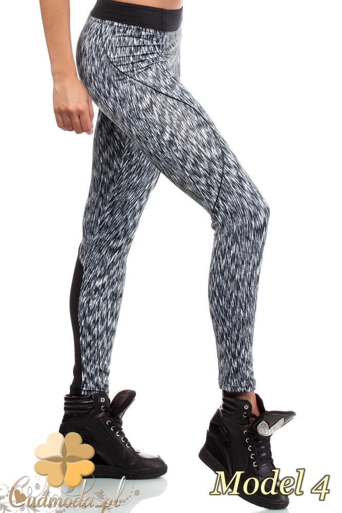 CM2185 Dopasowane legginsy neonowe stylowe - model 4