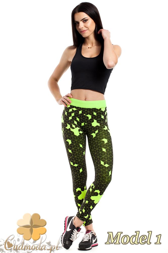 CM2187 Stylowe legginsy idealne na fitness - model 1