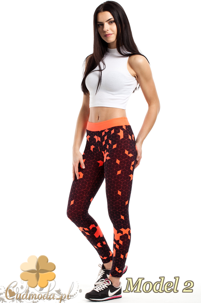 CM2187 Stylowe legginsy idealne na fitness - model 2