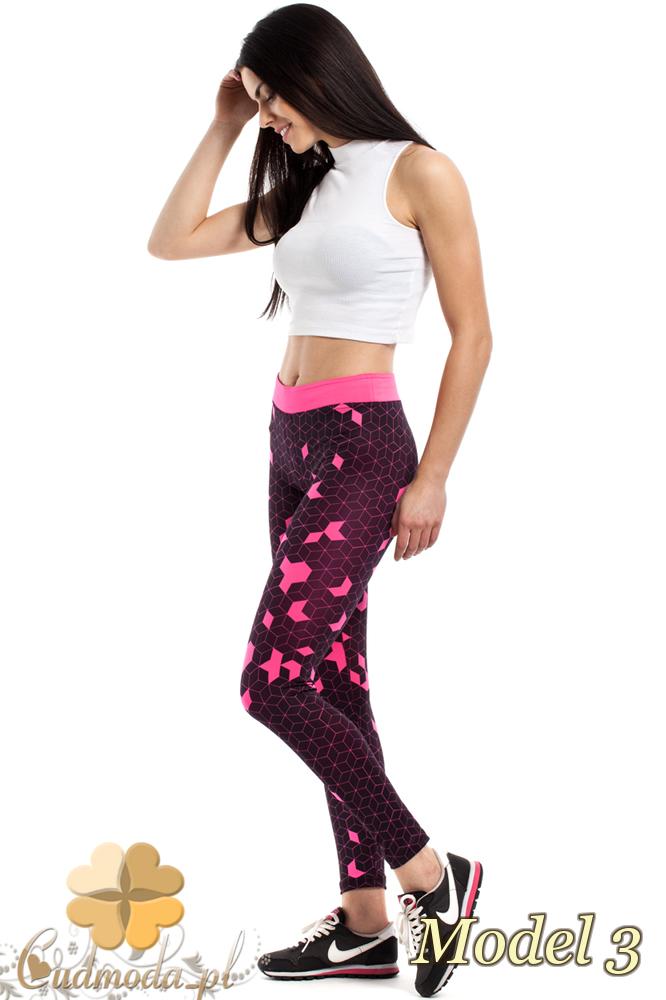 CM2187 Stylowe legginsy idealne na fitness - model 3