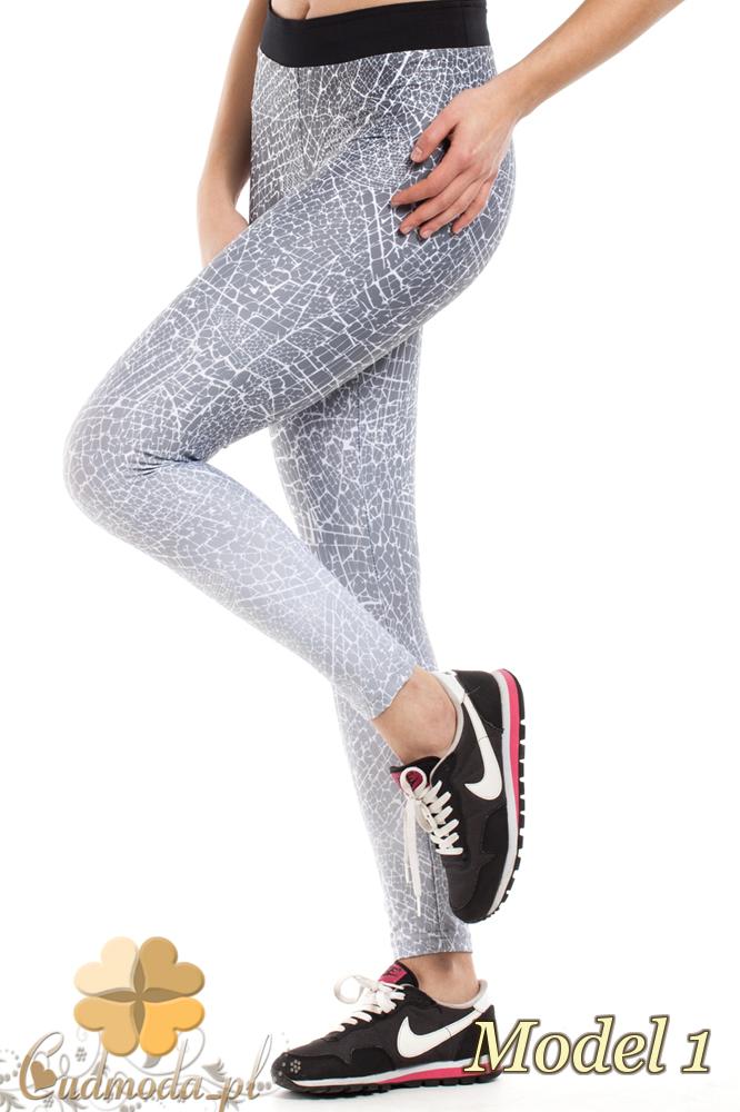 CM2190 Wygodne gładkie legginsy fitness - model 1