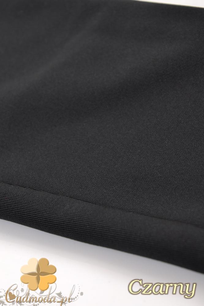 CM0172 Włoskie legginsy getry lekko połyskujące - czarne