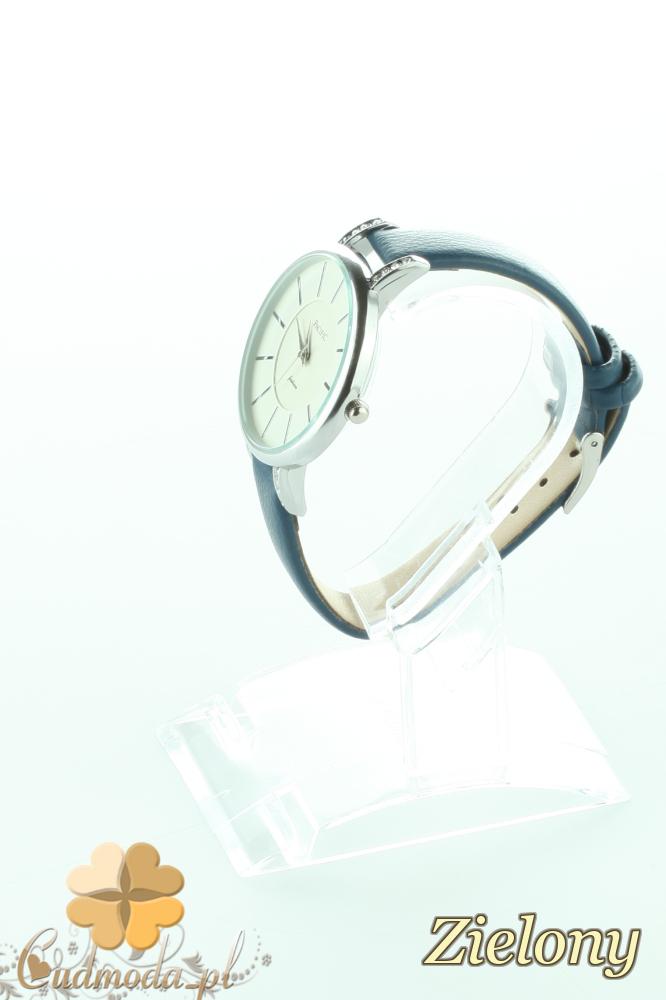CM2193 Elegancki zegarek damski z cyrkonami - zielony