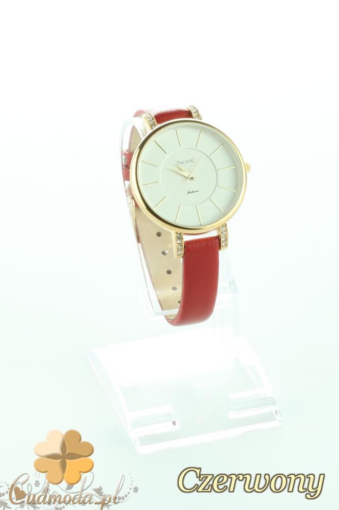 CM2193 Elegancki zegarek damski z cyrkonami - czerwony