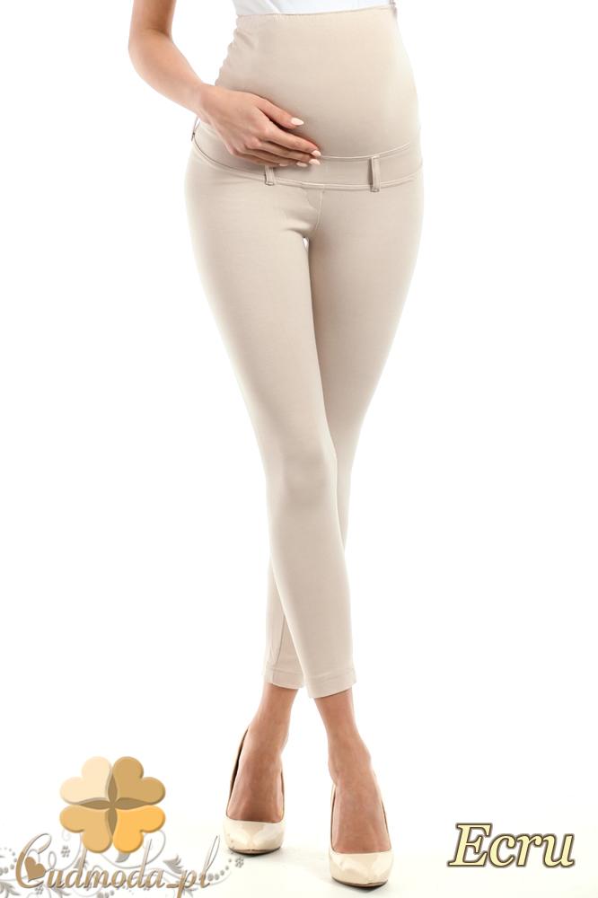 CM0730 Ciążowe spodnie legginsy z elastycznym pasem - ecru