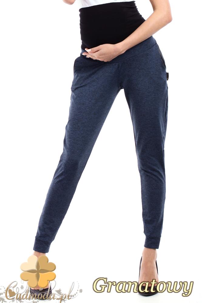 CM2237 Dresowe sportowe spodnie ciążowe - granatowe