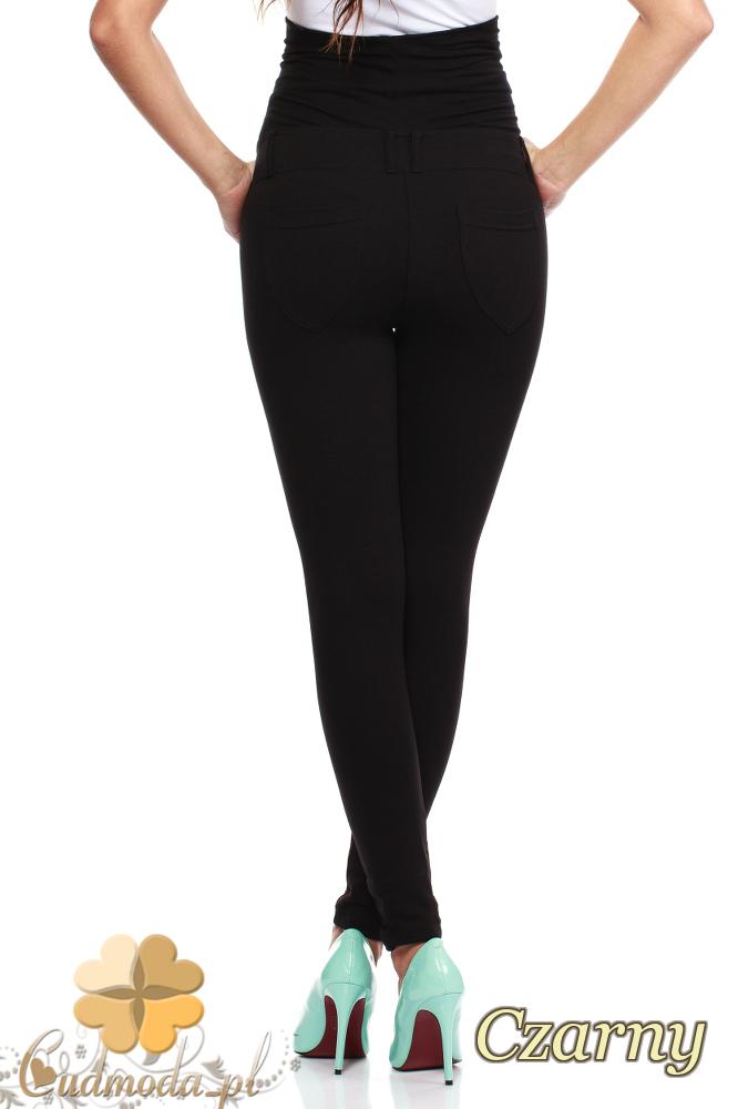 CM0730 Ciążowe spodnie legginsy z elastycznym pasem - czarne