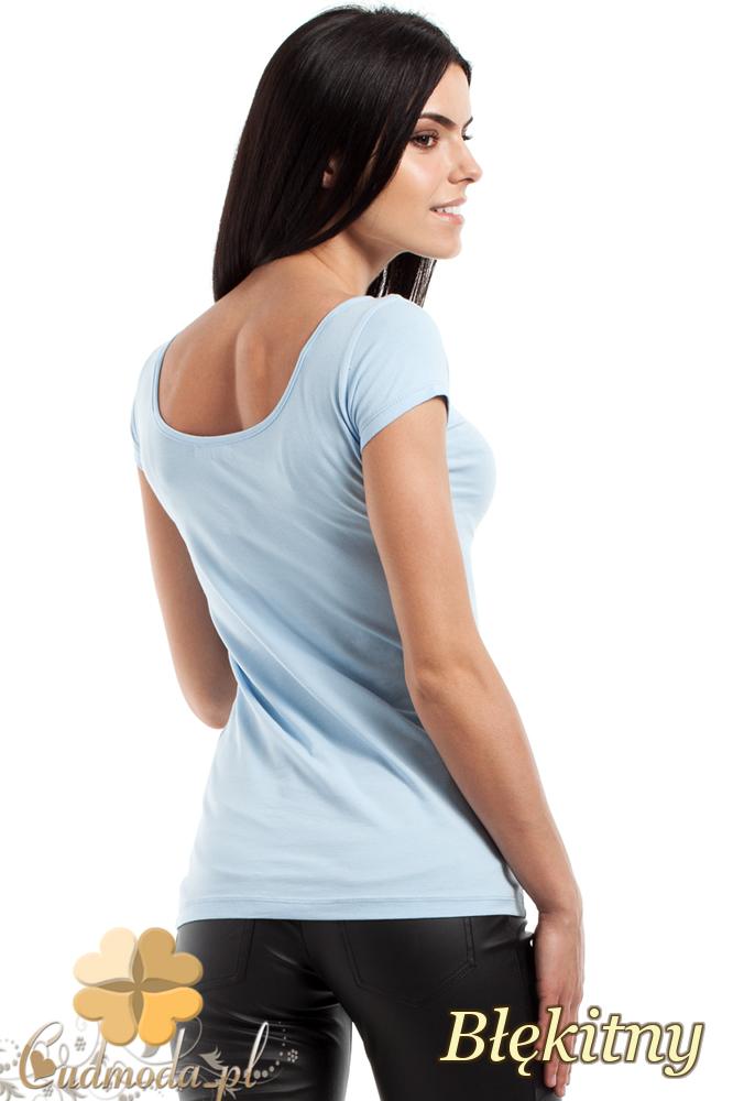 CM0281 Elastyczna gładka bluzeczka - błękitna