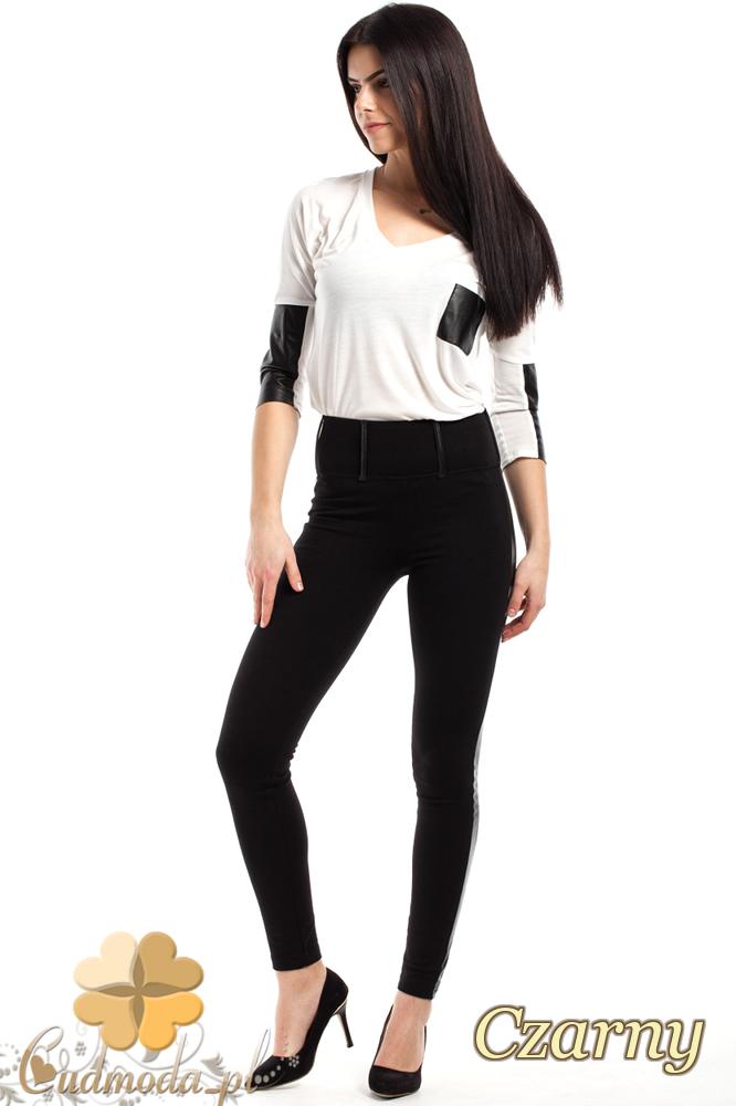 CM2244 Niezwykle eleganckie dopasowane legginsy - czarne