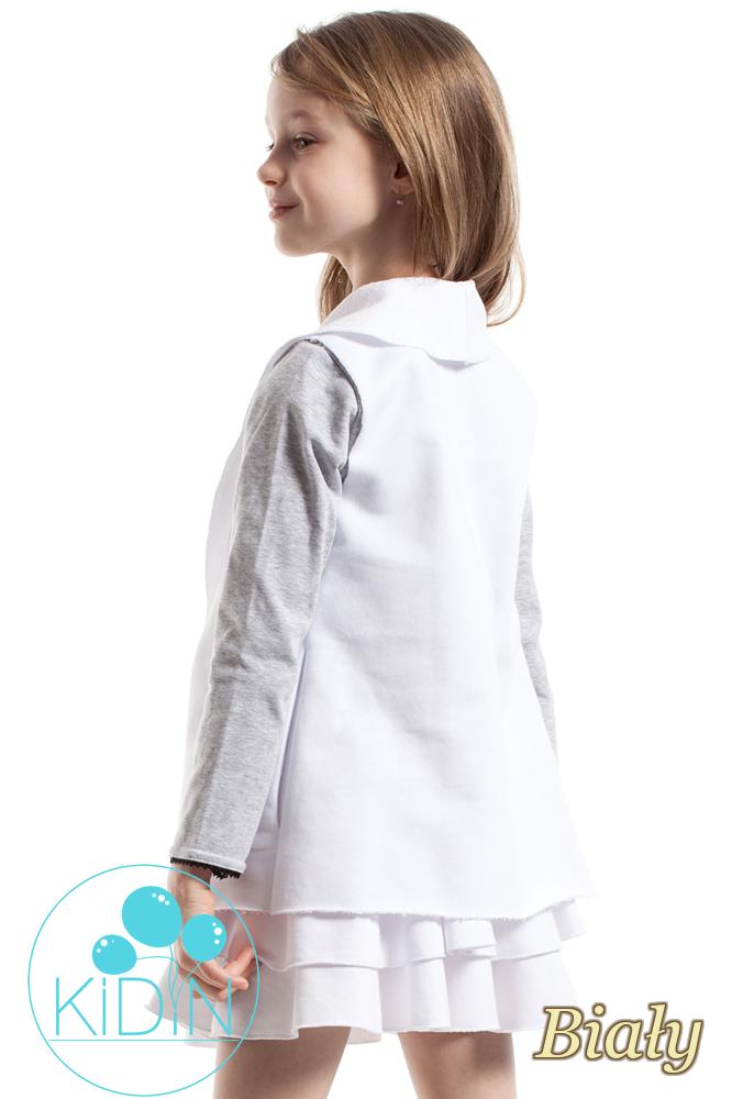 CM2264 Niezapinana kamizelka dziewczęca - biała