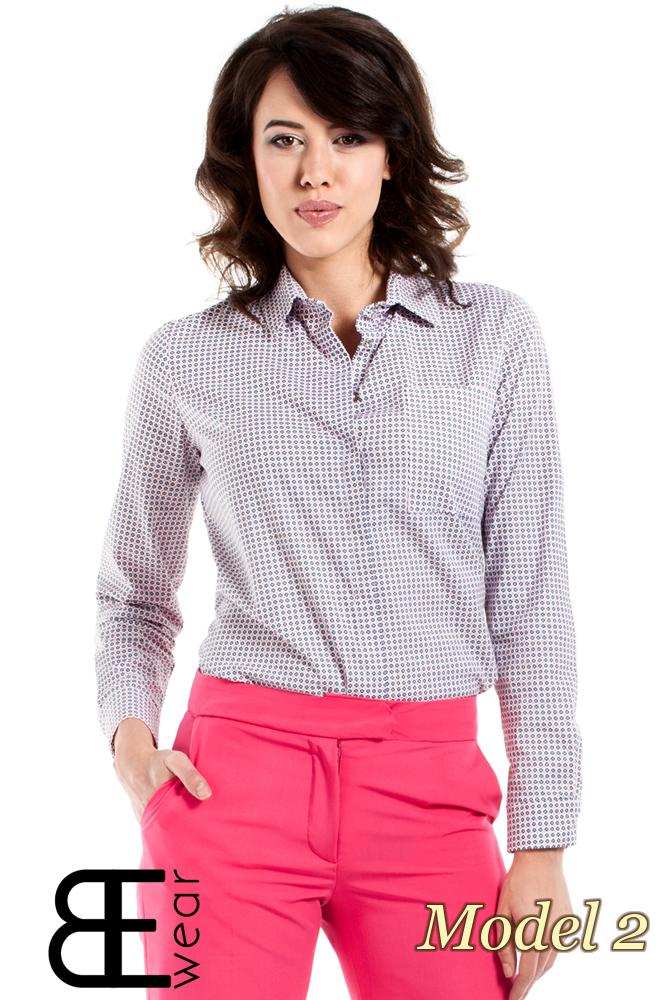 CM1631 Klasyczna zapinana koszula damska - model 2