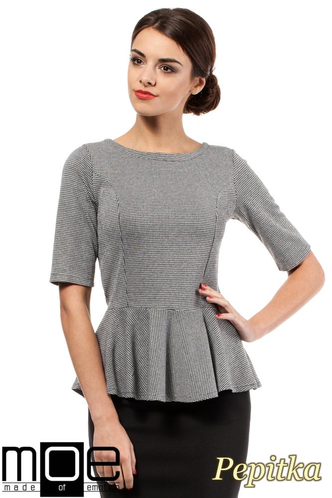 CM0207 Elegancka bluzka z baskinką - pepito