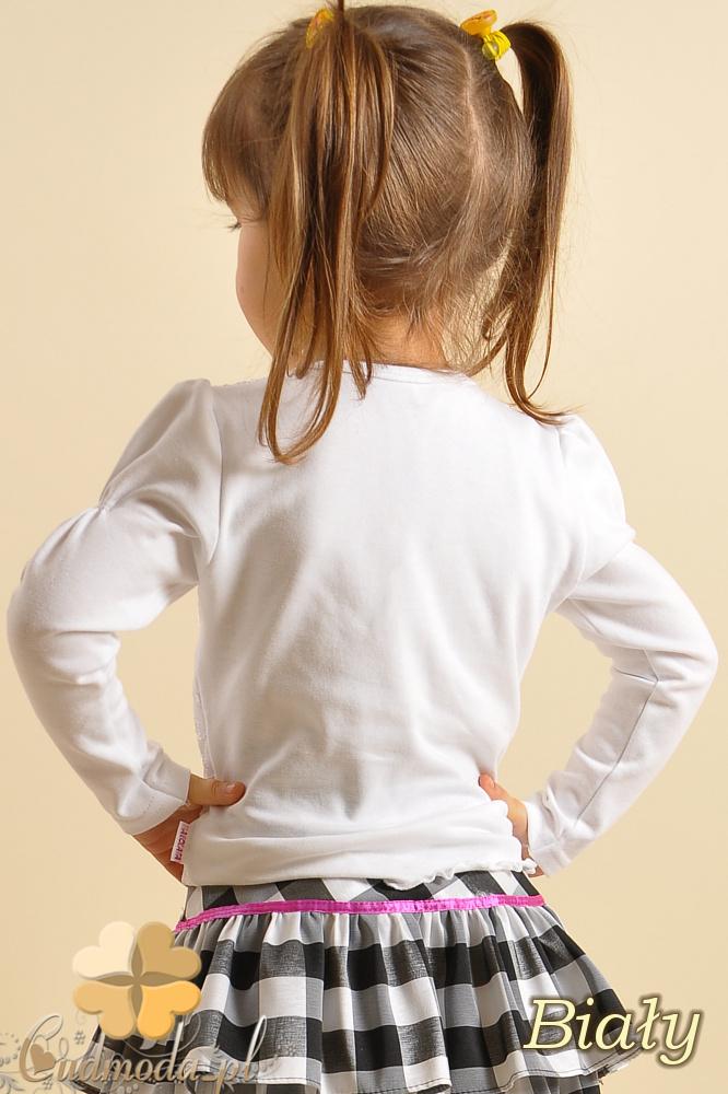 MA004 Urocza dziewczęca bluzeczka z efektowną koronką z delikatnym brokatem.