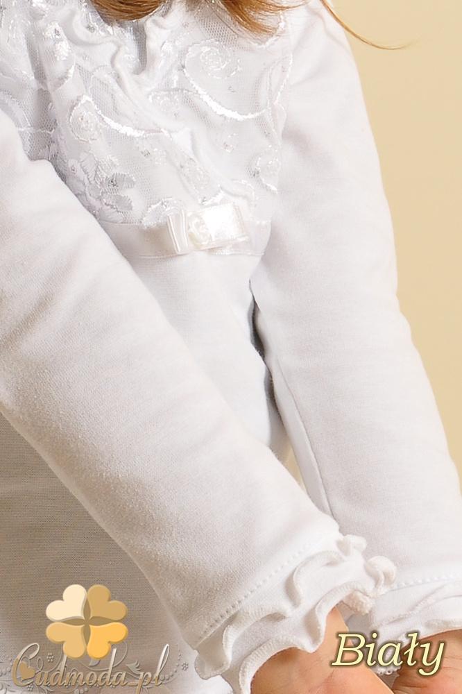 MA003 Urocza dziewczęca bluzeczka z ozdobną wstawką z koronki