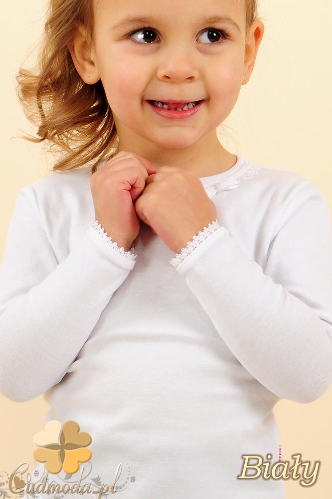 MA009 Klasyczna bluzeczka dla dziewczynki z koronką - biała