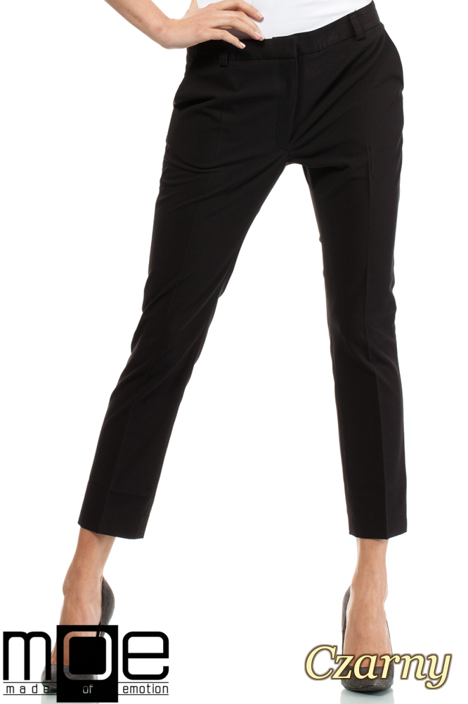 CM1449 Eleganckie spodnie damskie z pasem - czarne