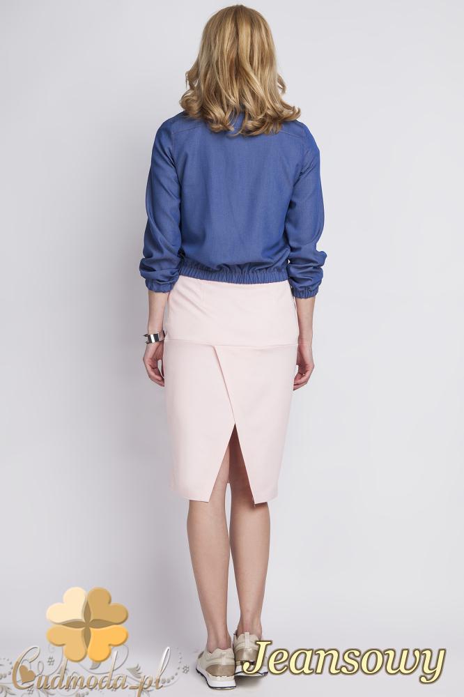 CM2282 Stylowa kurtka jeansowa