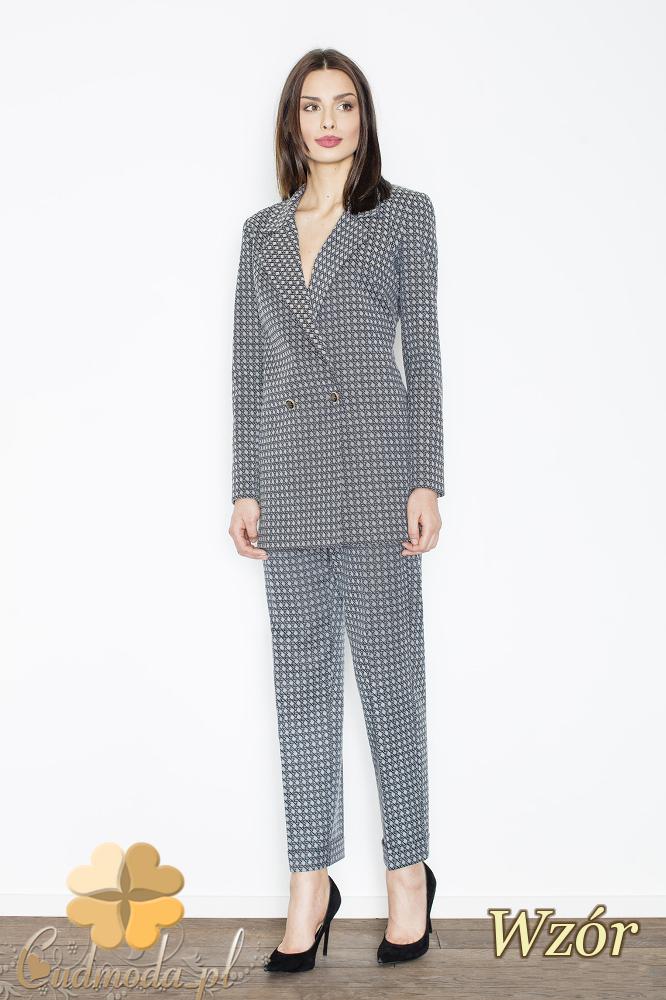 CM2351 Eleganckie spodnie damskie - wzór